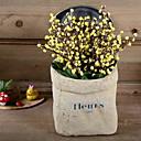 baratos Colares-Flores artificiais 1 Ramo Clássico Estiloso Rústico Ameixa Flor de Mesa
