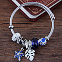 cheap Keychains-Women's Layered Charm Bracelet - Rhinestone Leaf, Starfish European, Fashion Bracelet Red / Blue / Pink For Party