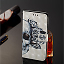 cheap Screen Protectors for Nokia-Case For Nokia Nokia 7 Plus / Nokia 6 2018 Wallet / Card Holder / with Stand Full Body Cases Skull Hard PU Leather for Nokia 7 Plus /