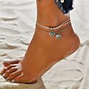 hesapli Saç Takıları-Katmanlı Ayak bileziği - Fil, Güneş Vintage, Bohem, Tropik Beyaz Uyumluluk Hediye Bikini Kadın's