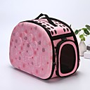 cheap Dog Supplies & Grooming-Dogs / Rabbits / Cats Cages / Carrier & Travel Backpack / Shoulder Bag Pet Carrier Portable / Waterproof / Camping & Hiking Flower / Floral / Fashion / Lolita Gray / Pink / Black