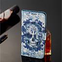economico Proteggi-schermo Samsung-Custodia Per Samsung Galaxy J8 / J7 Duo A portafoglio / Porta-carte di credito / Con supporto Integrale Teschi Resistente pelle sintetica per J8 / J7 Duo / J6