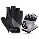 preiswerte Brosche-ROCKBROS Halber finger Unisex Motorrad-Handschuhe Elasthan Lycra / Atmungsaktives Gewebe Trainer / Atmungsaktiv / Rutschfest