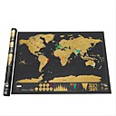 cheap Diecasts & Toy Vehicles-Erase Black World Map Scratch off World Map Personalized Travel Scratch for Map Room