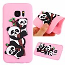 cheap Galaxy S Series Cases / Covers-Case For Samsung Galaxy S7 Shockproof / Pattern Back Cover Panda Soft TPU for S7