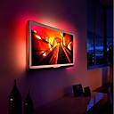 ieftine Curele Bărbați-ZHT 2m Fâșii De Becuri LEd Flexibile 60 LED-uri 5050 SMD Multicolor USB / Petrecere / Auto- Adeziv Alimentat USB 1set