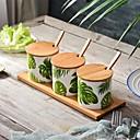 preiswerte Küchenutensilien & Gadgets-Küchenorganisation Mixer & Mühlen / Küchenkanister Holz / Keramik Lagerung / Baum / lieblich 7tlg