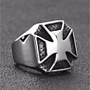 cheap Walkie Talkies-Men's Vintage Style Ring Signet Ring - Titanium Steel Cross Vintage, Punk, European Jewelry Silver For Street Holiday 7 / 8 / 9 / 10 / 11