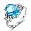 cheap Rings-Women's Cubic Zirconia Hollow Out Ring - Platinum Plated Korean 6 / 7 / 8 / 9 / 10 Silver For Party Evening Party