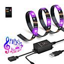 hesapli RGB Kontolörleri-2m Işık Setleri / RGB Şerit Işıklar 60 LED'ler SMD5050 RGB + Beyaz Kesilebilir / USB / Su Geçirmez 5 V / USB ile çalışır 1pc