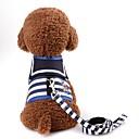 preiswerte Bekleidung & Accessoires für Hunde-Nagetiere / Hunde / Katzen Geschirre / Leinen Tragbar / Mini / Walking Streifen Terylen Rot / Marineblau