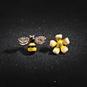 preiswerte Ohrringe-Damen Kristall Kubikzirkonia Nicht übereinstimmend Ohrstecker - Blume, Biene Freizeit Lolita, Süß Gelb Für Geschenk Alltag Strasse