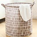 hesapli Banyo ve Kirli Çamaşır Depolama-Kumaş Yuvarlak geometrik Desen Ev organizasyon, 1pc Çamaşırlık Torbası ve Sepeti