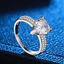 cheap Rings-Women's Stylish Ring - Copper, Platinum Plated, Imitation Diamond Sweet Heart Trendy, Romantic, Elegant 5 / 6 / 7 / 8 / 9 Silver For Date Valentine