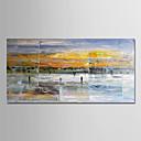 billige Dekorationsklistermærker-Hang-Painted Oliemaleri Hånd malede - Abstrakt Moderne Uden indre ramme / Valset lærred