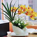 preiswerte Künstliche Blumen-Künstliche Blumen 1 Ast Klassisch Einzelbett(150 x 200 cm) Rustikal Orchideen Tisch-Blumen