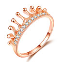 cheap Rings-Women's Stylish Ring Knuckle Ring - Rose Gold Plated, Imitation Diamond Crown Trendy, Fashion, Elegant 5 / 6 / 7 / 8 / 9 Rose Gold For Date Going out