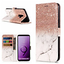 cheap Memory Cards-Case For Samsung Galaxy S9 / S9 Plus / S8 Plus Wallet / Card Holder / with Stand Full Body Cases Marble Hard PU Leather