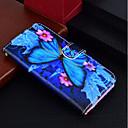 رخيصةأون Huawei أغطية / كفرات-غطاء من أجل Huawei Huawei P20 / Huawei P20 lite / P10 Lite محفظة / حامل البطاقات / مع حامل غطاء كامل للجسم فراشة قاسي جلد PU
