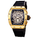 ieftine Brățări-Bărbați Ceas Sport Ceas de Mână Quartz Silicon Negru Cronograf Gravură scobită Model nou Analog Lux Sclipici extravagant - Argintiu / negru Auriu / Negru Negru / Roz auriu Un an Durată de Via