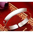 billige Armbånd-Dame Klassisk Elegant Mansjettarmbånd Bred Bangle S925 Sterling Sølv Kreativ damer Stilfull Klassisk Elegant Armbånd Smykker Sølv Til Daglig Stevnemøte