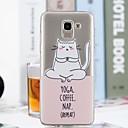 رخيصةأون الستائر-غطاء من أجل Samsung Galaxy J7 (2017) / J6 / J5 (2017) شفاف / نموذج غطاء خلفي قطة ناعم TPU