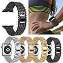 hesapli Erkek Saatleri-Watch Band için Apple Watch Series 4/3/2/1 Apple Spor Bantları Metal / Paslanmaz Çelik Bilek Askısı