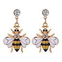 preiswerte Halsketten-Damen Stilvoll Tropfen-Ohrringe - Strass Biene Europäisch, Modisch, nette Art Gelb / Rot Für Party