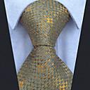 رخيصةأون سترات و بدلات الرجال-ربطة العنق هندسي / ألوان متناوبة / خملة الجاكوارد رجالي حفلة / عمل