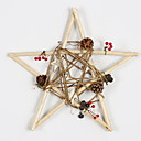 cheap Home Decoration-Christmas Ornaments Holiday Wooden Square Wooden Christmas Decoration