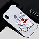 저렴한 아이폰 케이블 & 어댑터-케이스 제품 Apple iPhone X / iPhone 8 투명 / 패턴 뒷면 커버 고양이 소프트 TPU 용 iPhone X / iPhone 8 Plus / iPhone 8