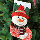 cheap Home Decoration-Christmas Stockings Holiday Cotton Fabric Square Novelty Christmas Decoration