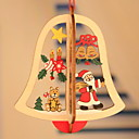 cheap Home Decoration-Christmas Ornaments Holiday Wooden Square Novelty Christmas Decoration