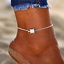 ieftine Brățară Gleznă-Pentru femei Brățară Gleznă gleznă brățară picioare bijuterii Retro Yoga Broasca testoasa Ieftin femei Simplu Boem Modă Brățară Gleznă Bijuterii Argintiu Pentru Concediu Bikini
