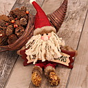 cheap Home Decoration-Christmas Ornaments Holiday Wooden / Polyester Square Novelty Christmas Decoration