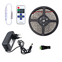 cheap LED Strip Lights-5m Flexible LED Light Strips 300 LEDs 3528 SMD 1 11Keys Remote Controller / 1 x 2A power adapter Warm White / Cold White / Red Waterproof / Cuttable / Linkable 100-240 V 1pc / Self-adhesive