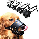 ieftine Câini Gulere, hamuri și Curelușe-Câini coaja Guler anti-Scoarță / Siguranță Mată / Punk Piele autentică Negru / Maro