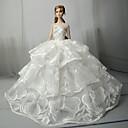 preiswerte Barbie Kleidung-Hochzeit Kleider Für Barbie-Puppe Spitze Satin Kleid Für Mädchen Puppe Spielzeug