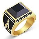 ieftine Brățări-Bărbați Obsidian Stil Vintage francmason Inel Inel sigiliu inox Vintage Inele la Modă Bijuterii Auriu Pentru Zilnic 8 / 9 / 10 / 11