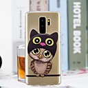 cheap Galaxy S Series Cases / Covers-Case For Samsung Galaxy S9 / S9 Plus / S8 Plus Transparent / Pattern Back Cover Owl Soft TPU
