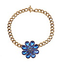 cheap Necklaces-Women's Vintage Style Stylish Necklace - Flower Simple, European, Sweet Blue 40 cm Necklace Jewelry 1pc For Evening Party, Valentine