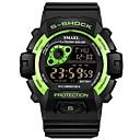זול שעוני גברים-SMAEL בגדי ריקוד גברים שעוני ספורט שעון דיגיטלי Japanese דיגיטלי שחור 30 m עמיד במים לוח שנה כרונוגרף דיגיטלי אופנתי - ירוק כחול / זוהר בחושך
