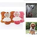 voordelige Hondenkleding & -accessoires-Hond Schoenen & Laarzen Gesloten teen Effen Cartoon Koffie Roze Voor huisdieren / Winter