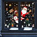 זול סטיקרים לקישוט-חלון הסרט & מדבקות תַפאוּרָה חיה / חג מולד דמות PVC מדבקה לחלון / מקסים / מצחיק