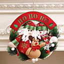 cheap Home Decoration-Garlands Christmas Cloth / Plastic Round Cartoon Toy Christmas Decoration