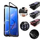 رخيصةأون أغطية أيفون-غطاء من أجل Samsung Galaxy S9 / S9 Plus / S8 Plus ضد الصدمات / مغناطيس غطاء خلفي لون سادة قاسي معدن