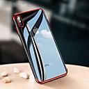 levne iPhone pouzdra-Carcasă Pro Apple iPhone X / iPhone 8 Galvanizované / Ultra tenké / Průhledné Zadní kryt Jednobarevné Měkké TPU pro iPhone X / iPhone 8 Plus / iPhone 8