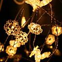 hesapli LED Şerit Işıklar-2m Dizili Işıklar 20 LED'ler Beyaz Dekorotif / Çok güzel Piller Powered 1set