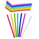 hesapli Karıştırma Çubukları-drinkware Pipetler Tam Vücut Silikon Taşınabilir / Sevimli Günlük / Sade / Doğum Dünü