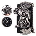 levne Pánské-Pánské Náramkové hodinky Digitální Pravá kůže Černá Hodinky na běžné nošení Cool Analogové Czaszka Módní - Černá